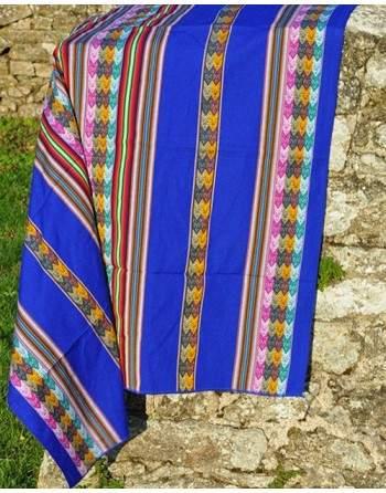 Tissu péruvien bleu