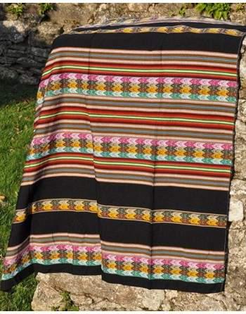 Tissu péruvien noir