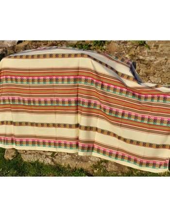 Tissu péruvien blanc grand format