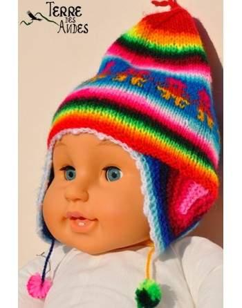 Bonnet péruvien pour baby