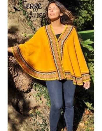 Châle jaune soleil des Andes