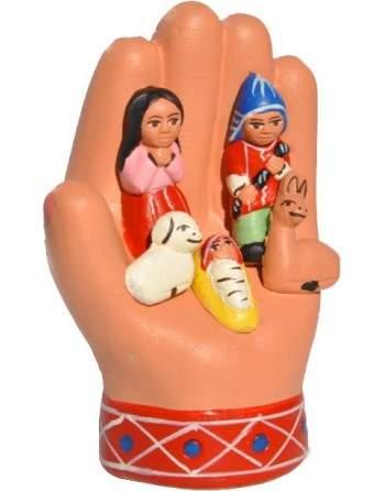 Crèche dans une main