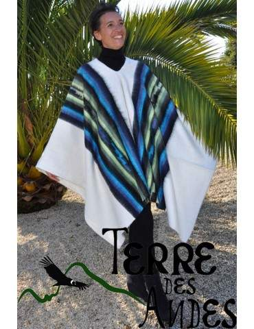 Poncho andin blanc des Andes