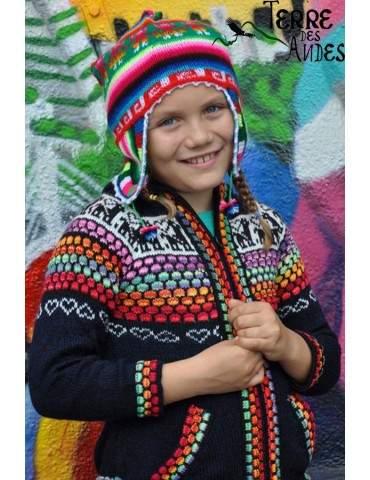 Bonnet péruvien authentique