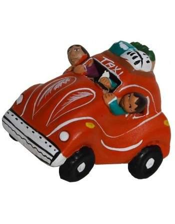 Taxi péruvien rouge