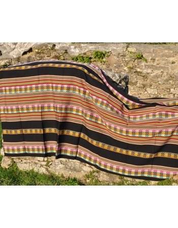 Tissu péruvien noir grand format