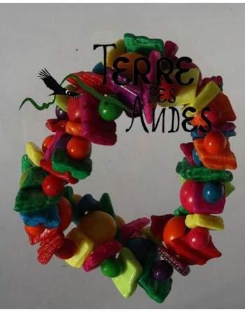Bracelet élastique couleurs du printemps
