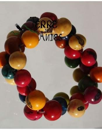 Bracelet élastique et perles d'automne
