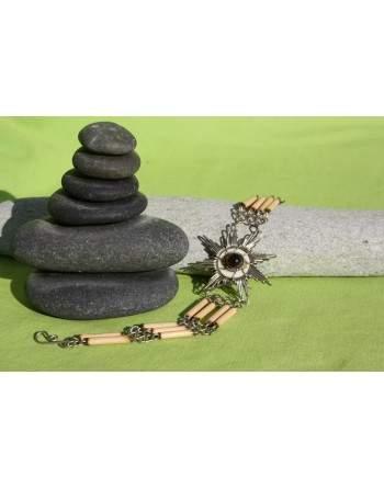 Bracelet en Bambou et pierre