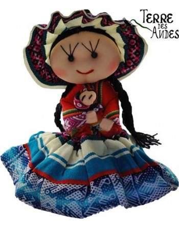 Poupée Cholita des Andes