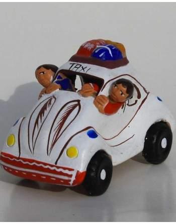 Taxi péruvien blanc