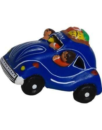 Taxi péruvien bleu
