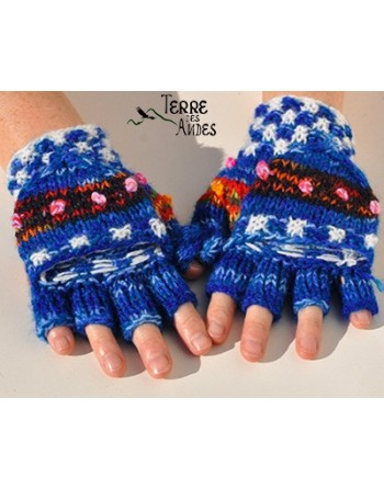 Mitaines - moufles blue