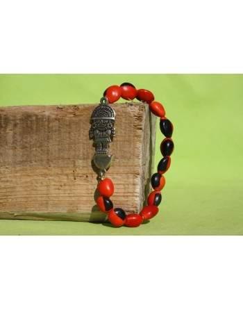 Bracelet en graine huayruro.