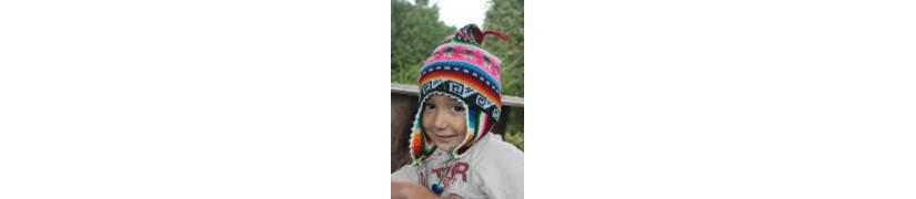 Terre des Andes, bonnet péruvien enfant
