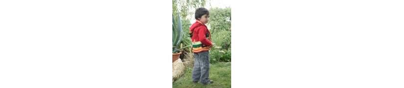 Terre des Andes, vestes à capuche pour enfant